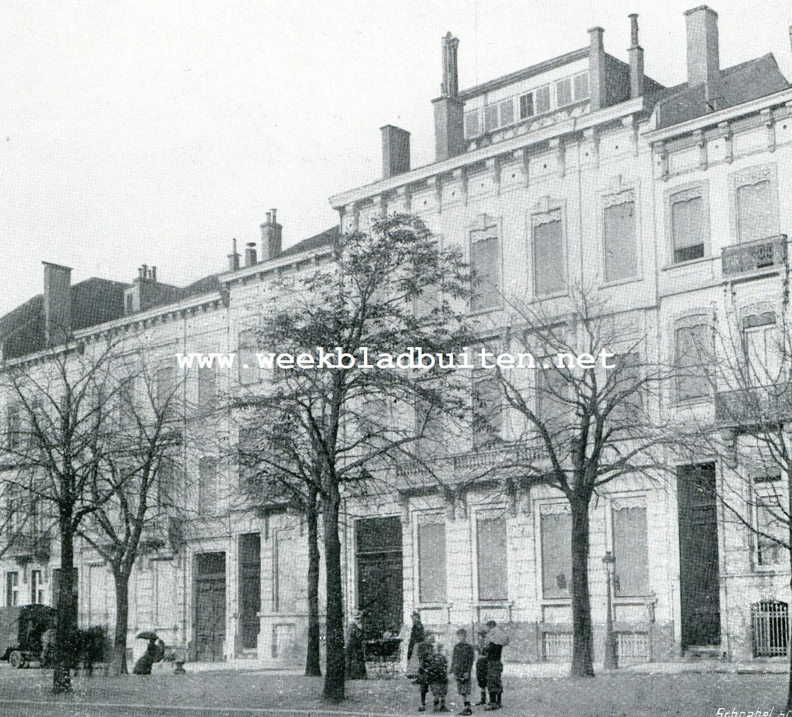 Niet bemeste boomen op 30 October 1901 van de Avenue Louise te Brussel