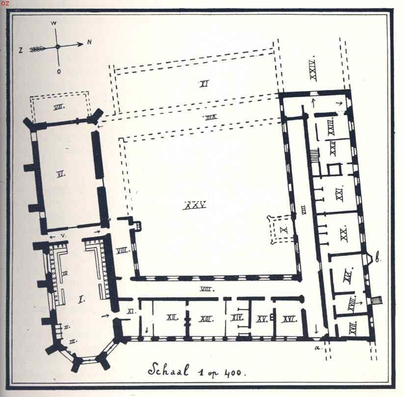 Het oude klooster te Ter Apel. Plattegrond van het oude klooster te Ter Apel