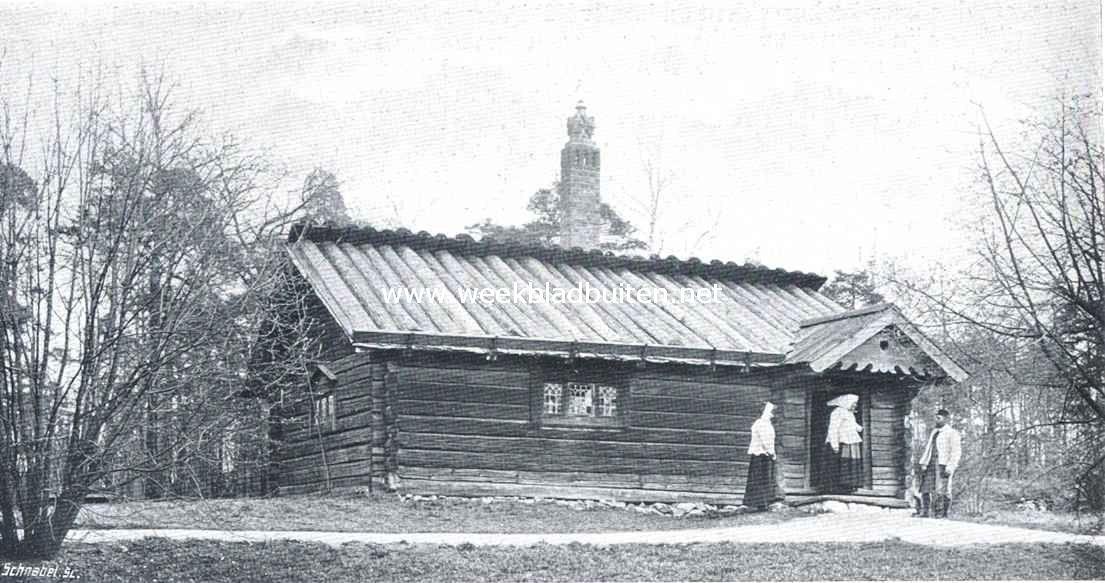 Openluchtmusea. De Morastugan op Skansen, 't oudste huis van 't Openluchtmuseum