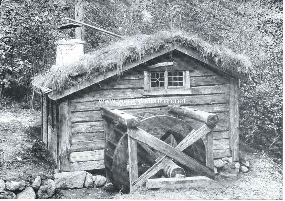 Openluchtmusea. De Fräddrägeri (draadslagerij) te Jönköping.