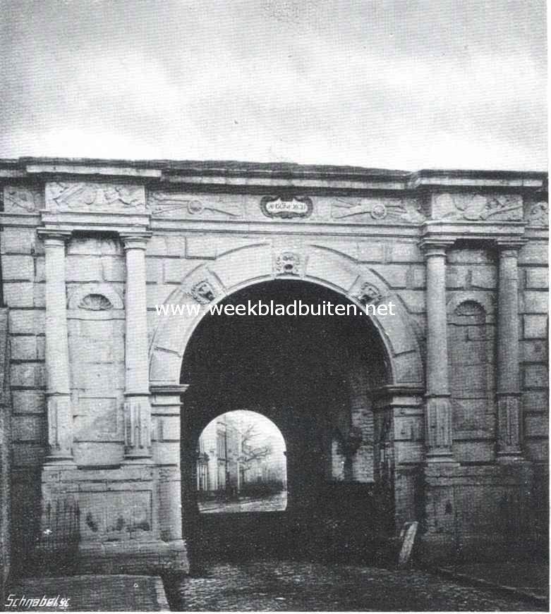 Sloopend herboren-Nederland. De voormalige Heerepoort te Groningen, afgebroken in 1875