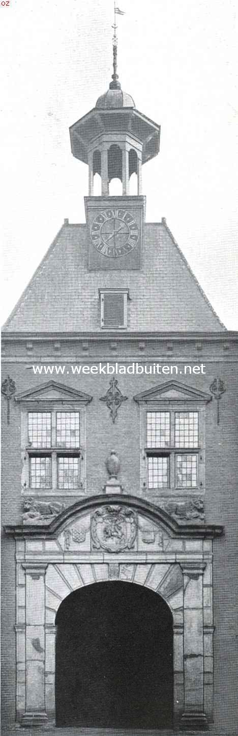 Van Arkel's oude veste. De Gorcumsche waterpoort, gesloopt in 1893 en heropgericht in de tuin van 't Rijksmuseum