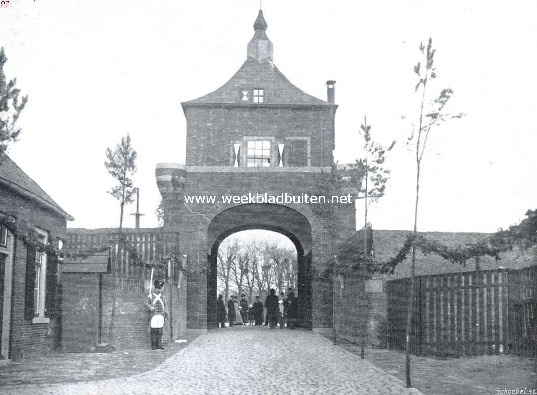 Van Arkel's oude veste. De voormalige Arkelsche Poort te Gorinchem, op de oude plaats en in de oude gedaante opgericht tijdens de onafhankelijkheidsfeesten in 1914