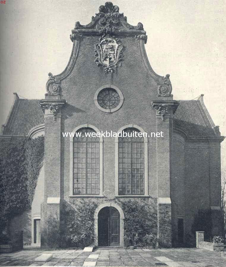 Gevel der Ned. Herv. Kerk te Westzaan aan de zijde van het oude rechthuis