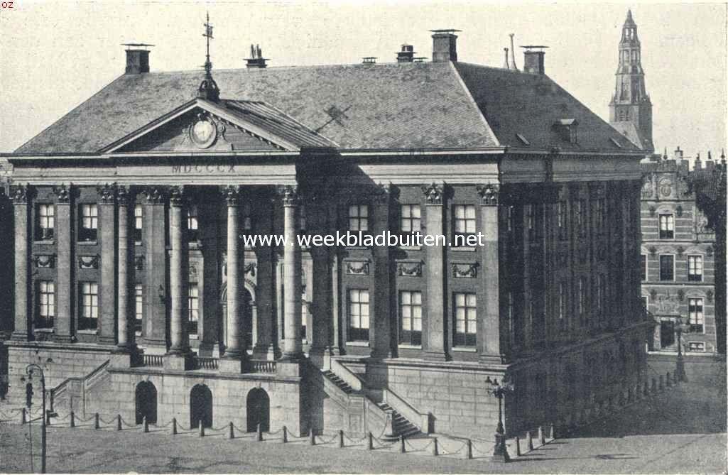 Groningsche Raadhuizen. Het tegenwoordige Raadhuis te Groningen