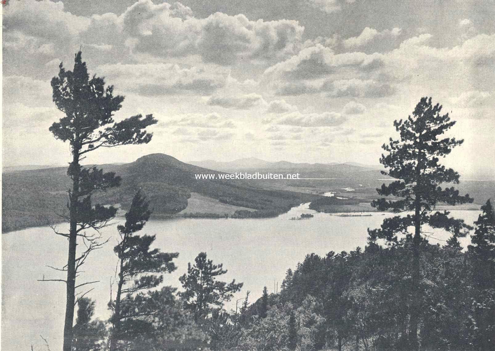 In het westen van Noord-Amerika, de Moose river gezien van Mount Kines