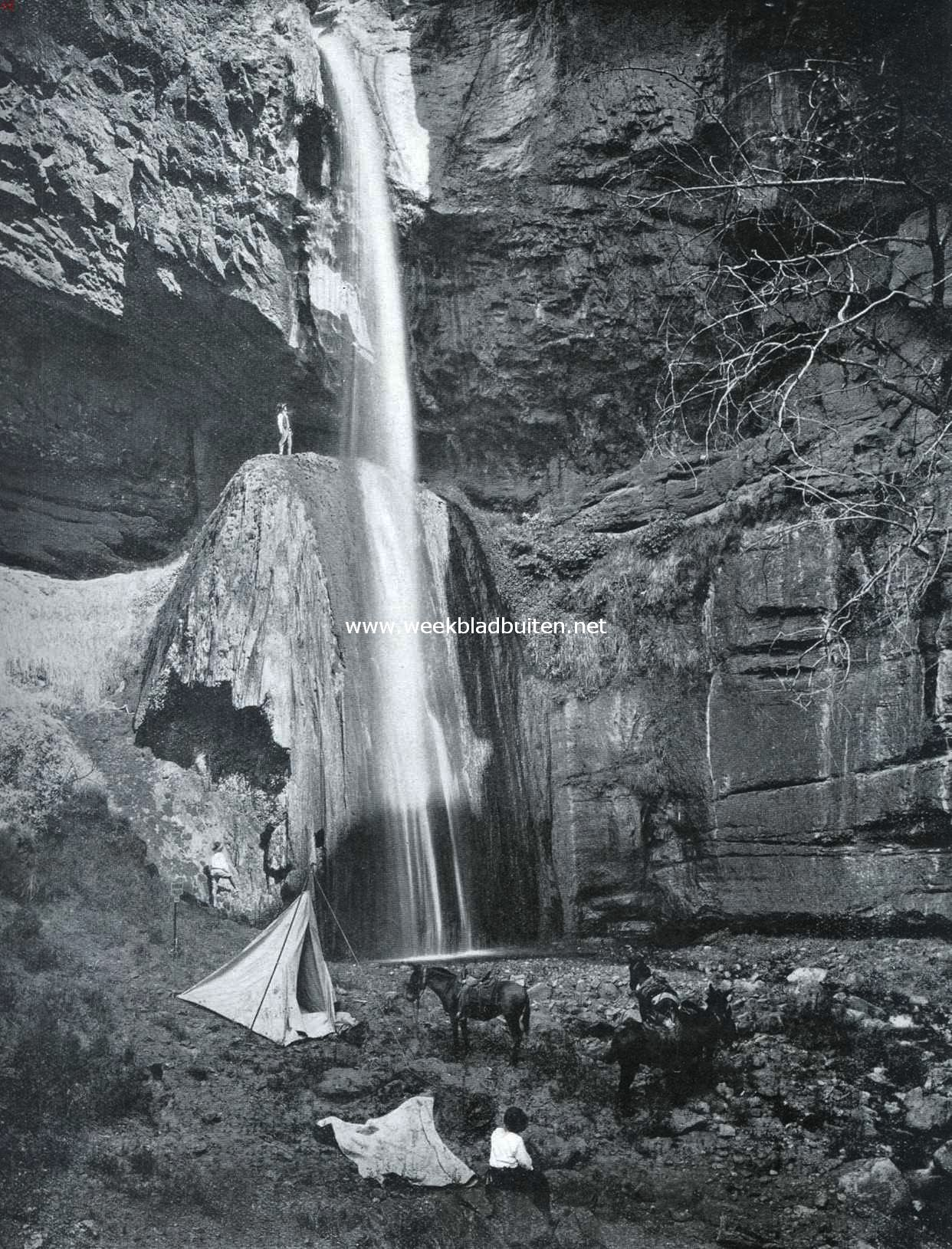 De altaar-waterval in het Grand Canyon National Park (V.S. v. N.A.)