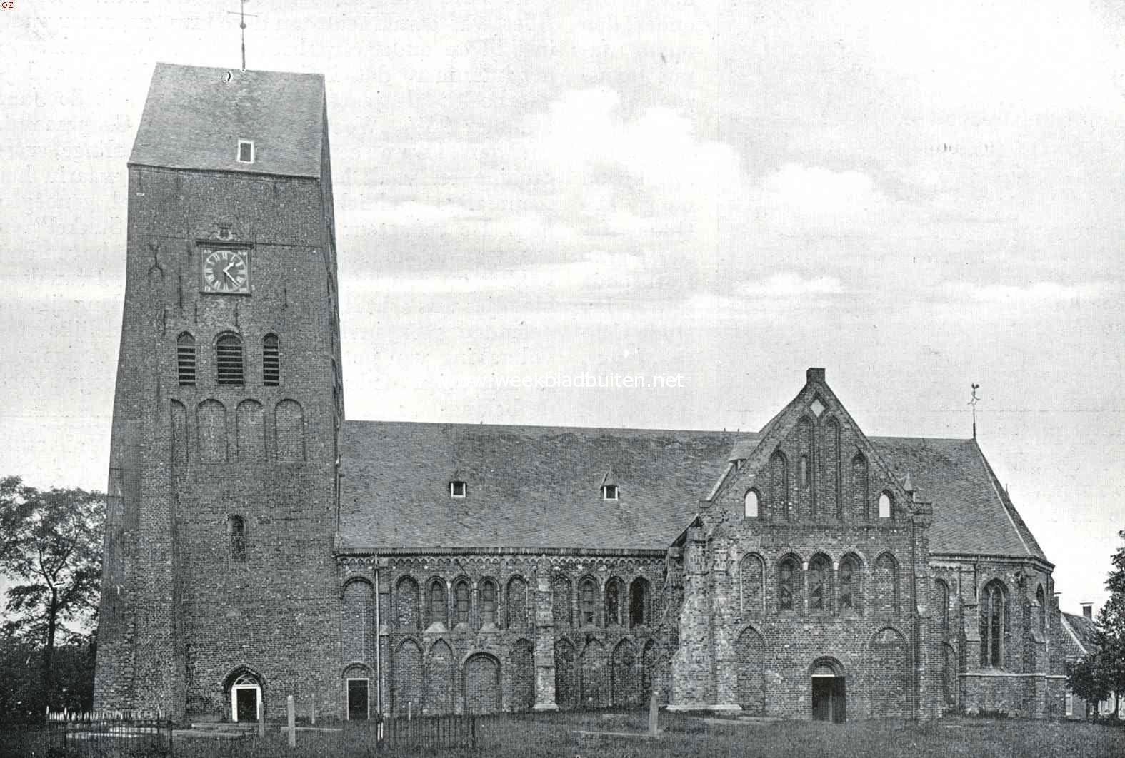 De kerk te Stedum, dateerend uit de 13e eeuw, doch in later tijden verbouwd en vergroot