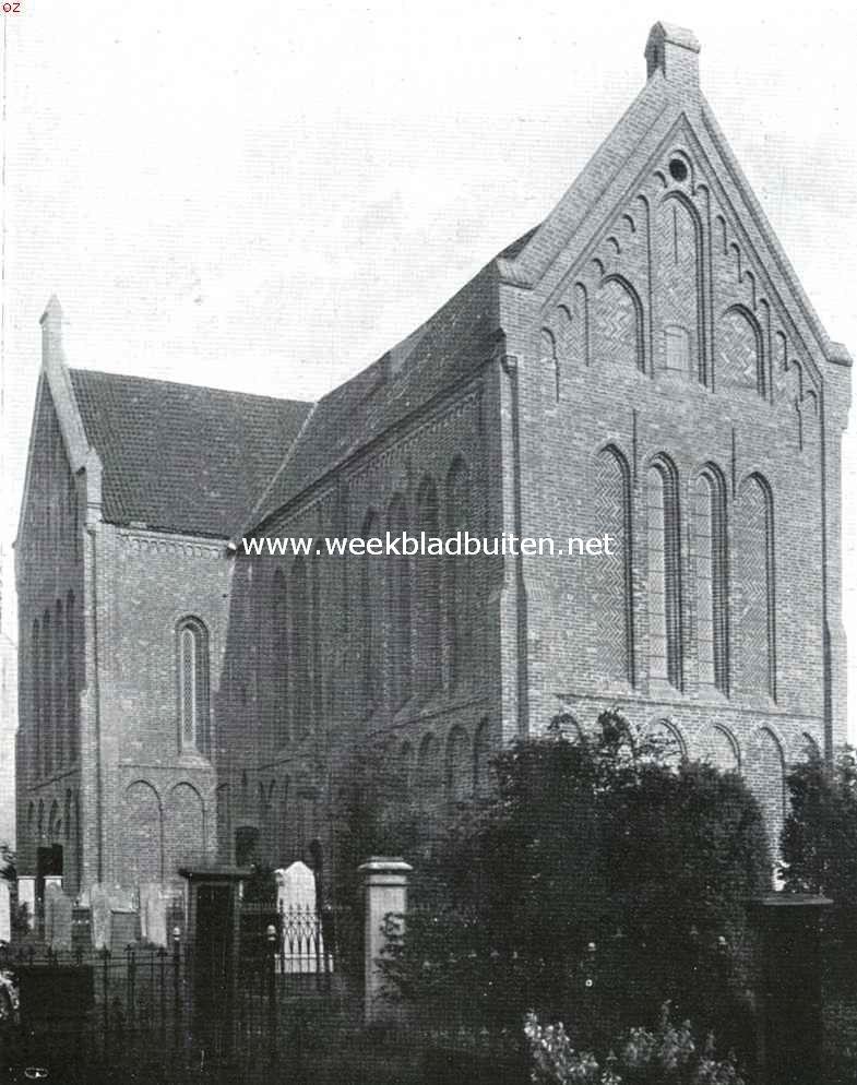 De kerk te Zuidbroek, een der weinige ongeschonden kruiskerken in Nederland